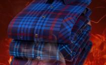 雅鹿 男式冬季加绒加厚格子保暖衬衫 多色 39.9元包邮